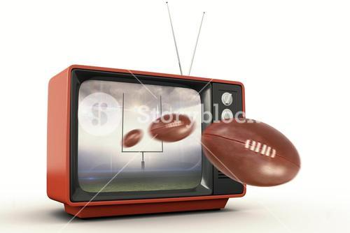 Composite image of american football