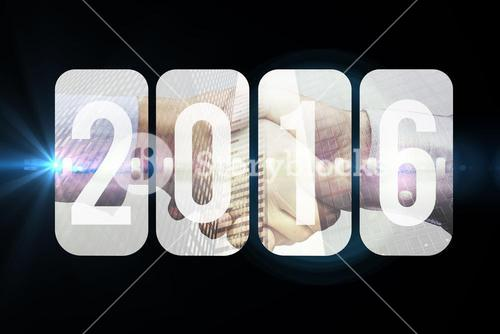 Composite image of new year graphic