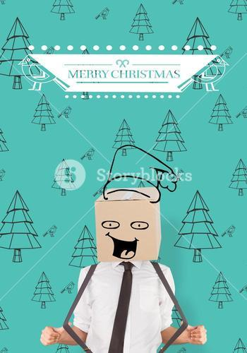 Composite image of anonymous businessman