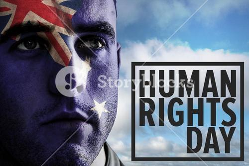 Composite image of human rights