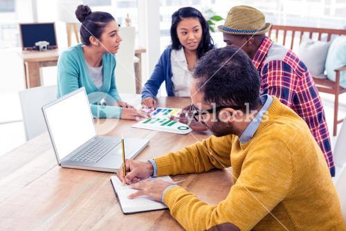 Business people working in creative office