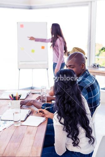 Business people at presentation