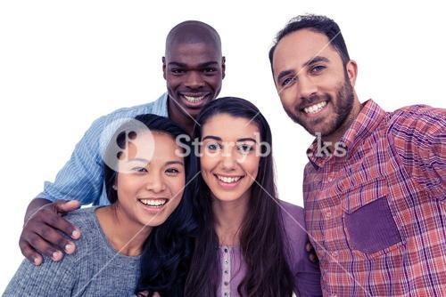 Portrait of happy multi-ethnic friends