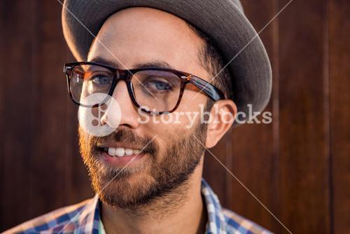Portrait of creative male professional with eye glasses in office