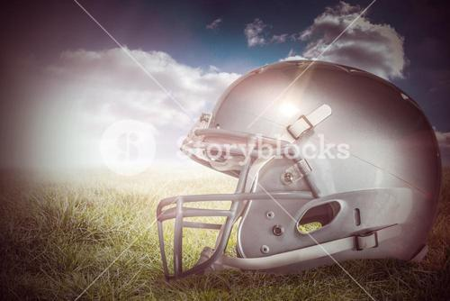 Composite image of american football helmet