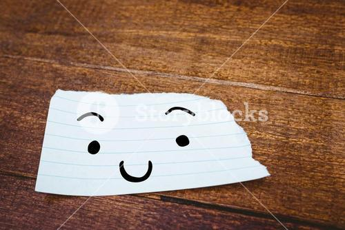 Composite image of smiling face