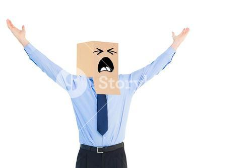 Composite image of cheering anonymous businessman