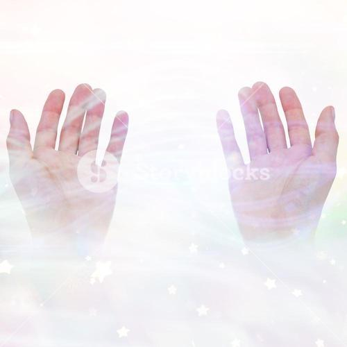 Composite image of hands