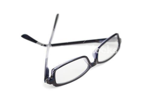 Pair of spectacles isolated