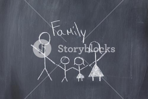 Drawing of a family