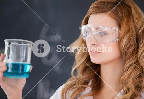 Scientist carrying out an experiment