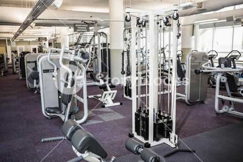 Gym with no people
