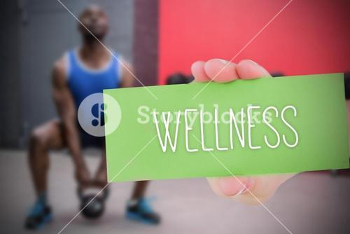 Wellness against people background