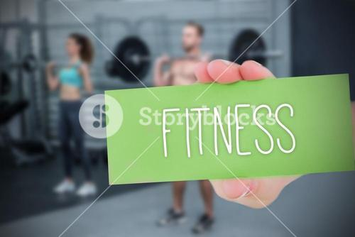 Fitness against people background
