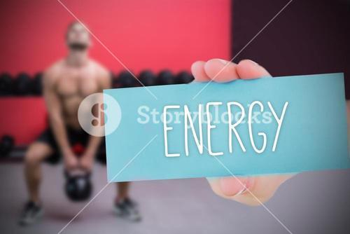 Energy against people background