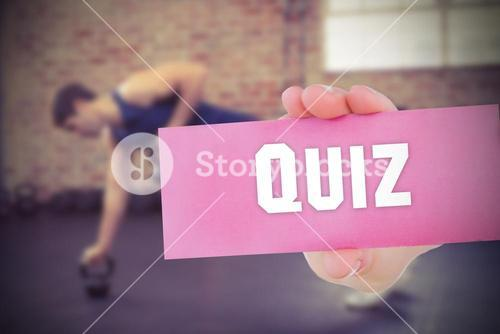 Quiz against people background