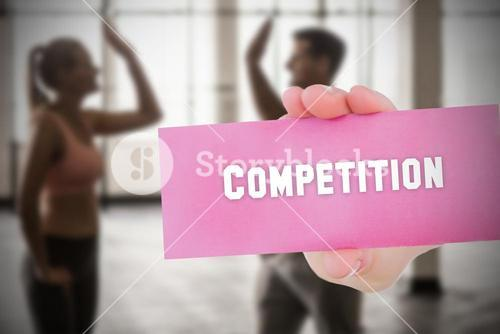 Competition against people background