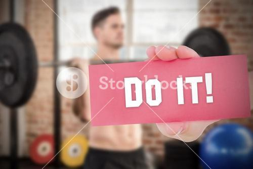 Do it! against people background