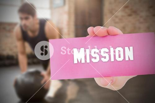 Mission against people background