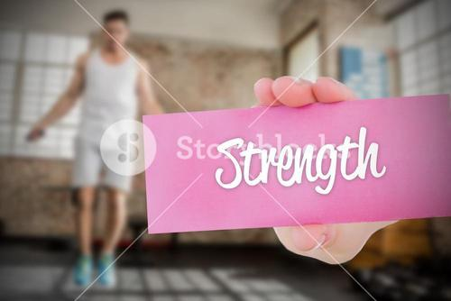 Strength against people background