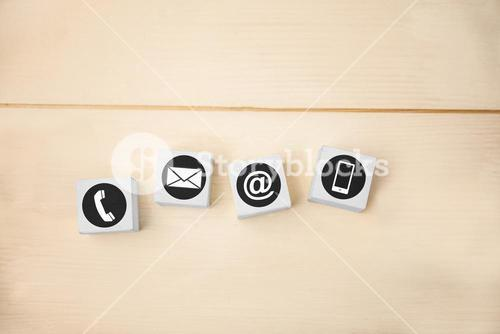 Composite image of communication apps