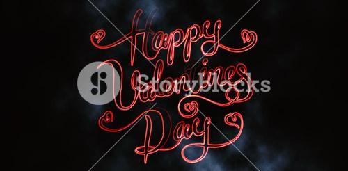 Composite image of happy valentine day