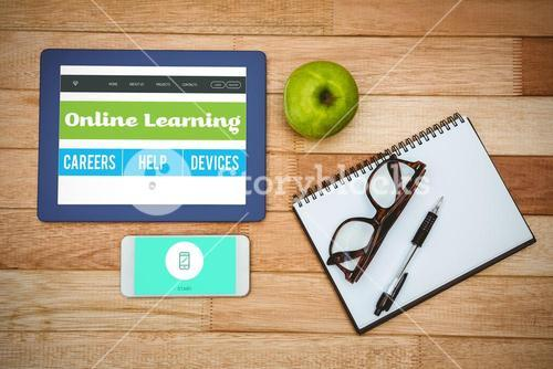 Composite image of online learning interface