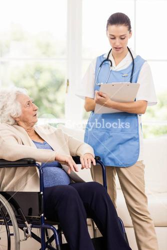 Doctor checking patients health