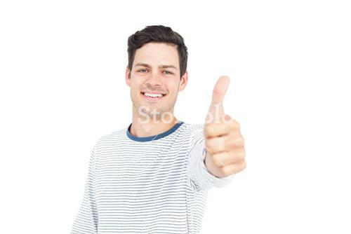 Man with thumbs up