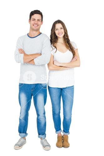 Couple with arm crossed