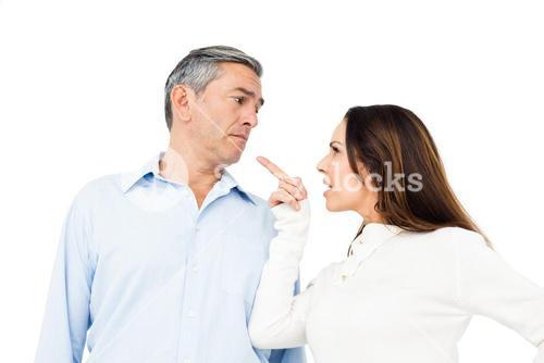 Angry couple arguing