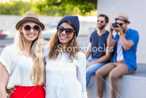 Hip friends taking a picture