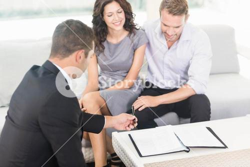 Young couple ready to buy new house