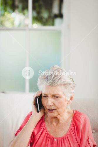 Senior woman talking on phone