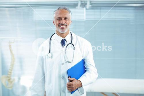 Doctor standing in clinic