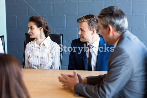 Business people discussing in conference meeting