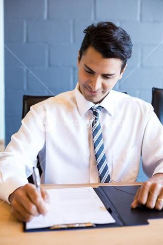 Young businessman in business meeting