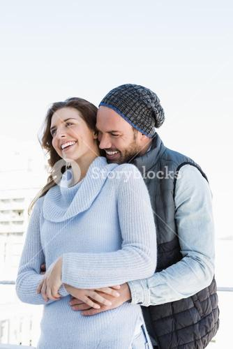 Happy couple embracing each other