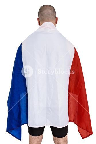 Athlete with france national flag
