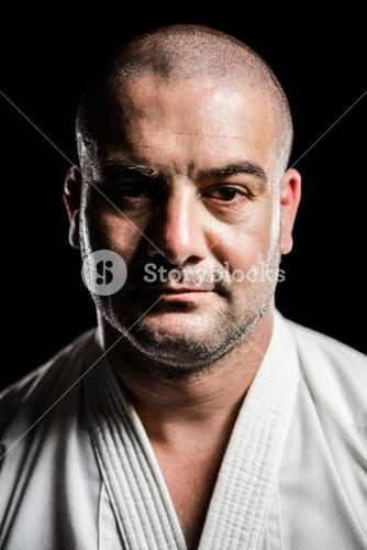 Portrait of karate fighter