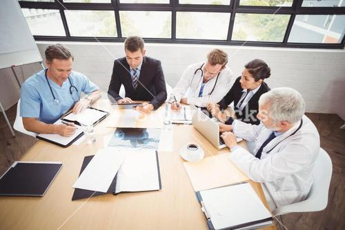 Medical team having a meeting in conference room