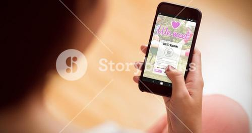 Composite image of online dating app