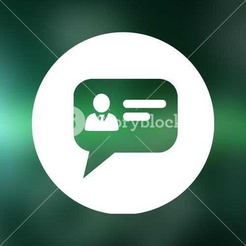 Composite image of business dialogue icon