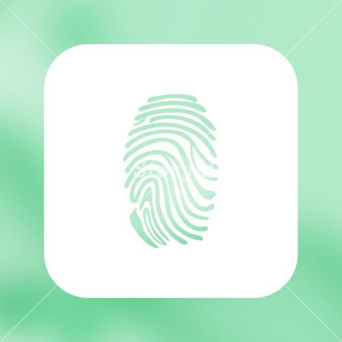 Composite image of fingerprint with green background