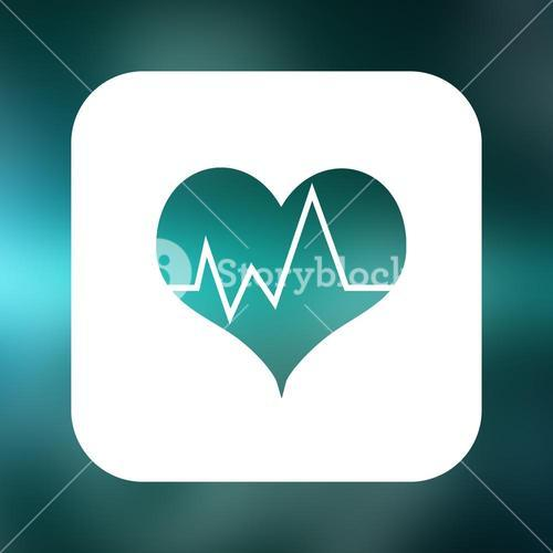 Composite image of heartbeat with green background