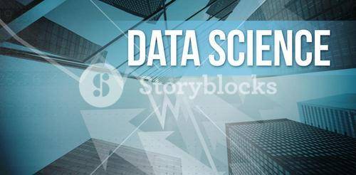Data science with blue background