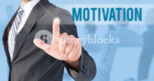 Motivation against blue background