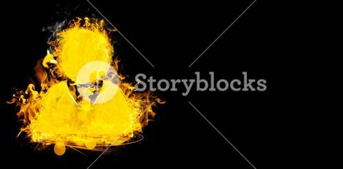 Composite image of symbol of businessman on fire