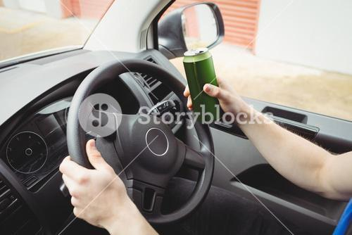Man driving while drunk