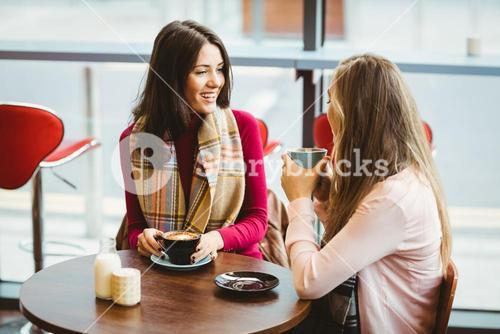 Friends having a cup of coffee